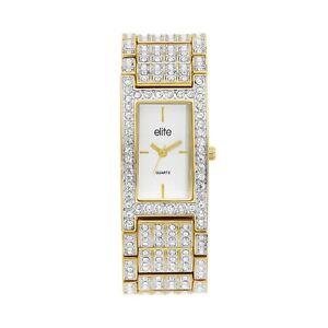 Elite Gold Ladies Dress Watch