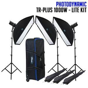 NEW PhotoDynamic TR-Plus 1000W x 3 Studio Lighting Kit - LITE South Turramurra Ku-ring-gai Area Preview