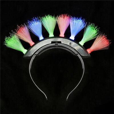 Fiber Optic Mohawk (1 Dozen Light-Up Mohawk Fiber Optic Headband Fun Costume Party)