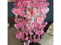 Pink Hearts Lampshade