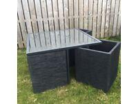 Garden Cube table set