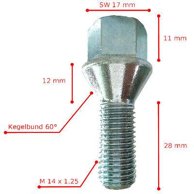 8 Radschrauben M12x1,5 27mm Radbolzen Alufelgen Kegelbund 60° SCHWARZ /& SILBER