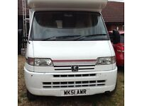 Five birth auto sleeper motorhome for sale 2001 reg