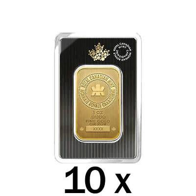 10 x 1 oz 2018 Gold Bar - .9999 Gold New Design in Assay - Royal Canadian Mint for sale  Toronto
