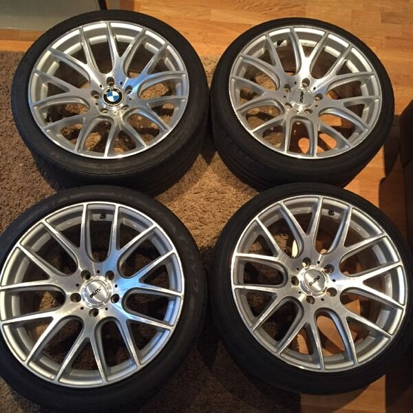 19 Inch Bmw Vmr Csl 3sdm Alloy Wheels With Tyres Staggered Concave E46 E90 E92 M3 In