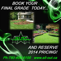 Final Grades / Landscaping - BOOK NOW & SAVE!