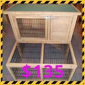 Double Storey Rabbit / Guinea Pig Hutch with Run Osborne Port Adelaide Area Preview