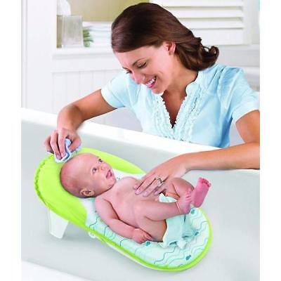 New Fold & Store Bath Sling Compact Baby Seat Support Infant Bather Safety Mat
