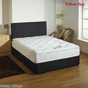 3ft 4ft6 5ft 6ft 2000 pocket pillow top mattress divan for 5ft divan bed