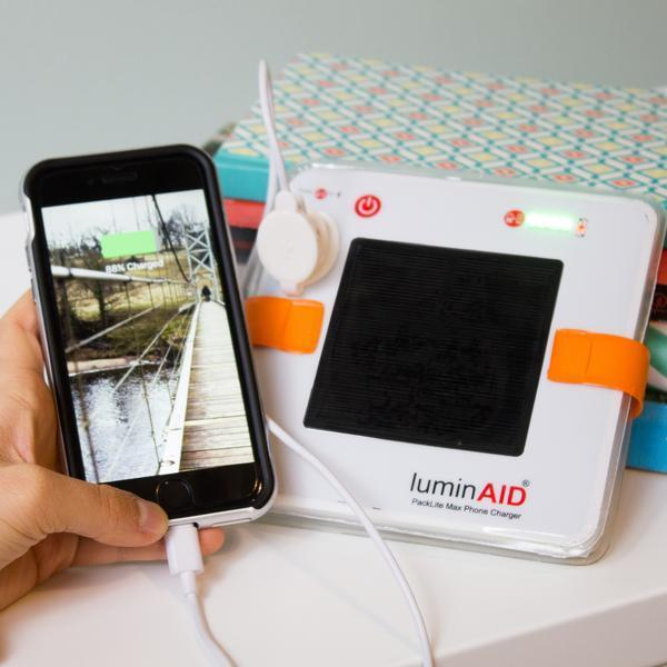 LuminAID PackLite Max 2-in-1 USB Phone Charger & Inflatable