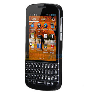 New Android 4.2 OS MTK6572 Dual Core TV WIFI GPS QWERTY Cell Phone MP108 Black