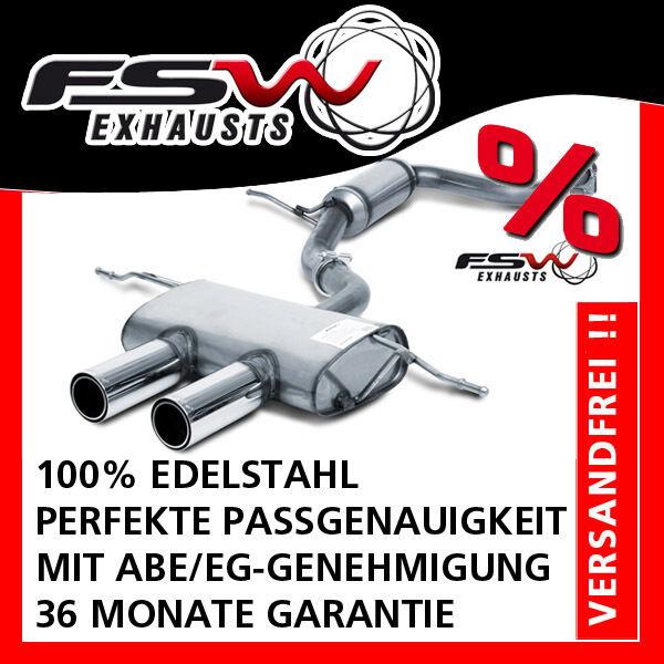 FSW Sport Auspuffanlage komplett ab Kat mittig VW Golf 5 GTI inkl. Edition