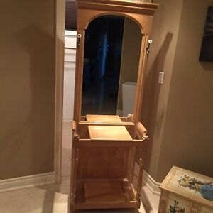 Hallway stand with Mirror - handcrafted