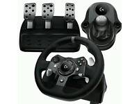 Logitech g920 steering wheel peddles and gearstick (Xbox one)