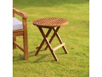 Folding Teak Side Table (FREE LOCAL DELIVERY)