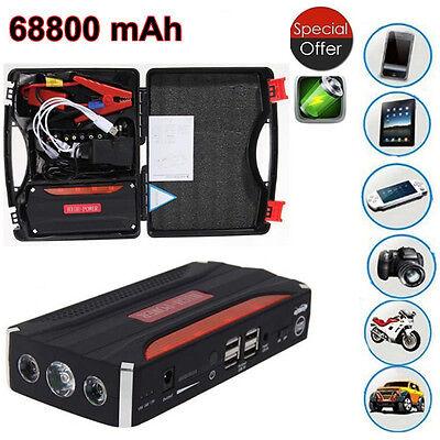 68800mAh Heavy Duty 4 USB Car Jump Starter Portable Power Bank Emergency Charger