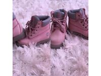 Baby girl size 4 pink timberland boots