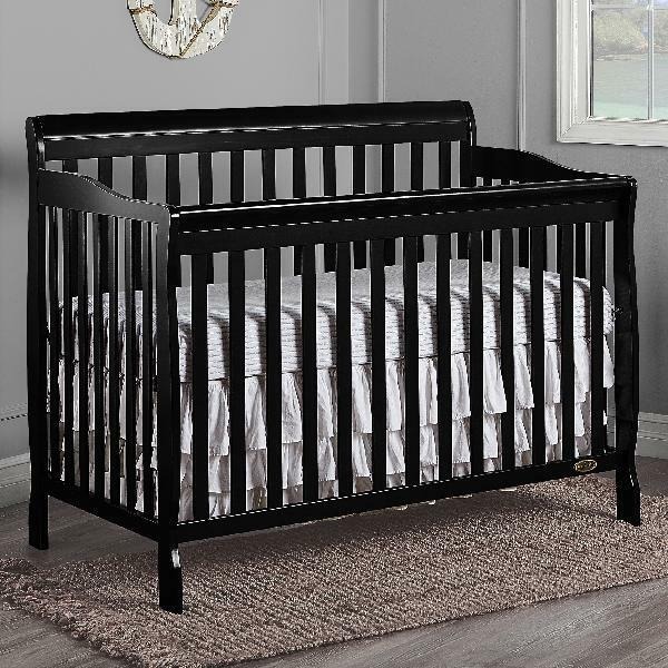 Stationary Rail 5 In 1 Convertible Crib Convertible Baby Bed Bedroom Furniture