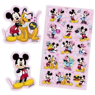MICKEY MOUSE-Sticker-Bogen mit 15 Aufklebern von Micky, Minnie und Pluto, Disney