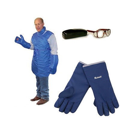 X-ray Radiation Protection Apparel Bundle-lead Aproncollarglassesflex Gloves