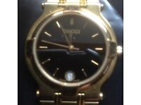 MENS GUCCI 9200M GOLD PLATED WATCH