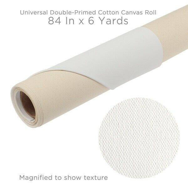 """Paramount Canvas 11 oz Double Primed Roll 84"""""""" x 6 Yards - 2 Pack"""