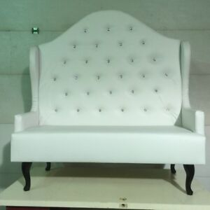 Loveseat, victorian chair and table for wedding and more