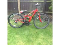 Kids Apollo FS24 full suspension mountain bike £35.00 ono