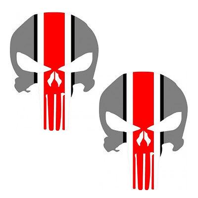Ohio State Punisher Decal Set Ohio State Buckeyes - Set of 2 - Large 10 inches