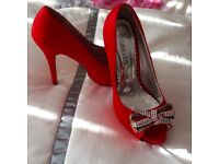 RED PARTY SHOES