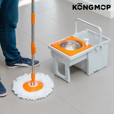 Easy Swivel 360º Home Office Floor Cleaning Device With Sliding Bucket  + 2 mops
