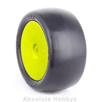 AKA Racing EVO Slicks Rear Buggy Tires Clay (Pre-Mounted) (Yellow) (2), used for sale  Shipping to Canada