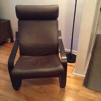 Ikea..Poang chaise en cuir..Prix réviser à la baisse..