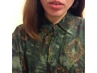 Silk Shirt, Size L