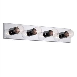 4-Light Chrome Standard Bathroom Vanity Light Bar