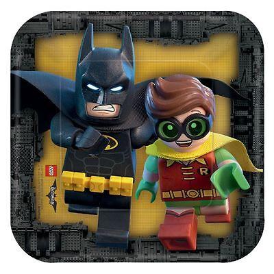 8pk LEGO Batman Movie Paper Plates 18cm DC Superhero Birthday Party Tableware