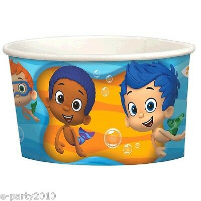 BUBBLE GUPPIES ICE CREAM CUPS (8) ~Birthday Party Supplies Dessert Gil Noni Nick - Ice Cream Supplies