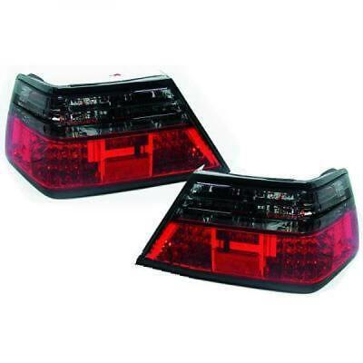 Rückleuchten Set für Mercedes W124 85-95 LED Klarglas/Rot-Schwarz