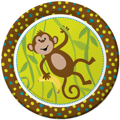 Monkey In Around Birthday Party Supplies Large Dinner Plates ()