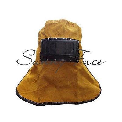 Super Quality Lift Front Comfortable Leather Welding Work Hood Helmet Hot