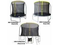 Sportspower 8ft , 10ft and 12ft Trampoline with Folding Enclosure