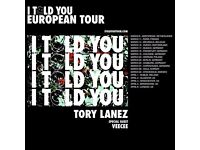 TORY LANEZX4 TICKETS SOLD OUT SHOWS 6TH AND 7TH APRIL 2017 O2 KENTISH TOWN
