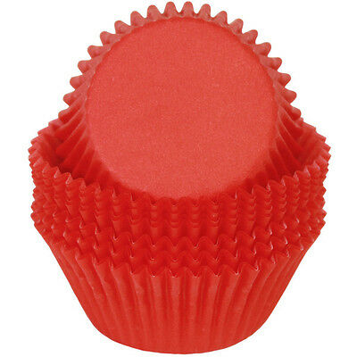 RED SOLID COLOR - GLASSINE CUPCAKE LINERS - 50 Ct. Standard