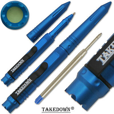 NEW Tactical Pen Takedown Self Defense Weapon Pens BLUE