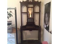 Antique mahogany victorian hall stand