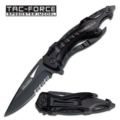 "8"" TAC FORCE POLICE TACTICAL SPRING ASSISTED FOLDING KNIFE Blade Pocket Switch"
