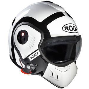 ROOF-BOXER-V8-bond-INNER-CITY-ELICOTTERO-PILOT-PARAFANGHI-CASCO-bianco-nero