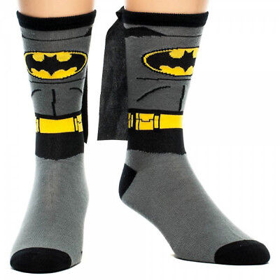 Batman Batgirl Logo DC Comics Unisex Men's Women's Crew Socks with Cape LICENSED