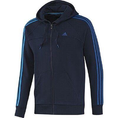 Adidas Essentials 3 Stripes Full-Zip Fleece Jacke Sweatjacke Kapuzenjacke NEU