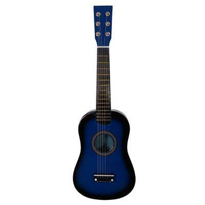 "23"" Wood Beginners Acoustic Guitar with Guitar Pick Steel 6 String Blue"